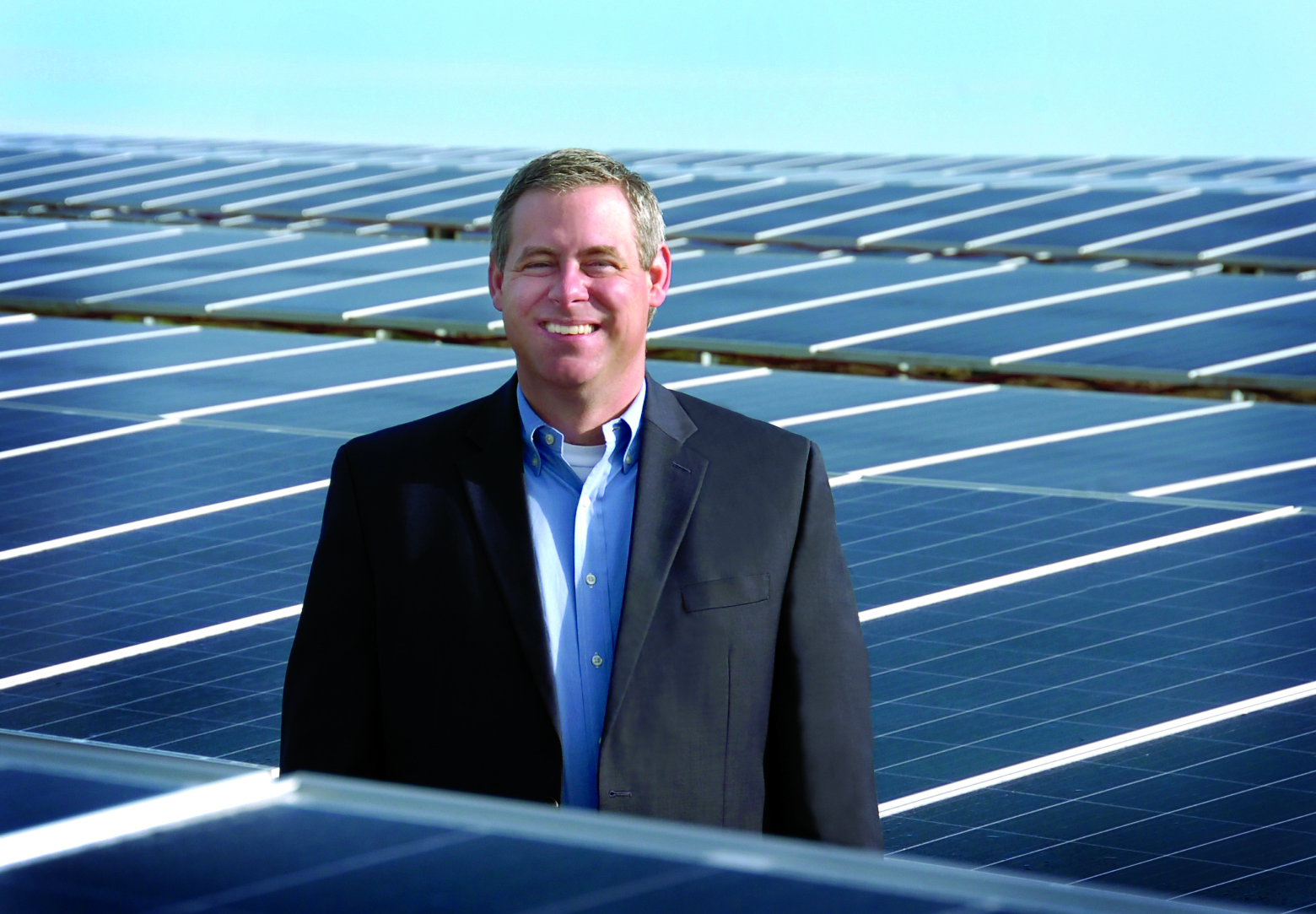 Cameron Smallwood at United's Community Solar site