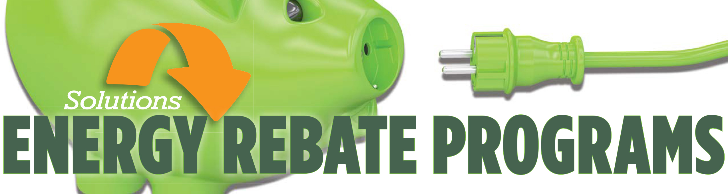 Energy rebate piggy bank and line cord