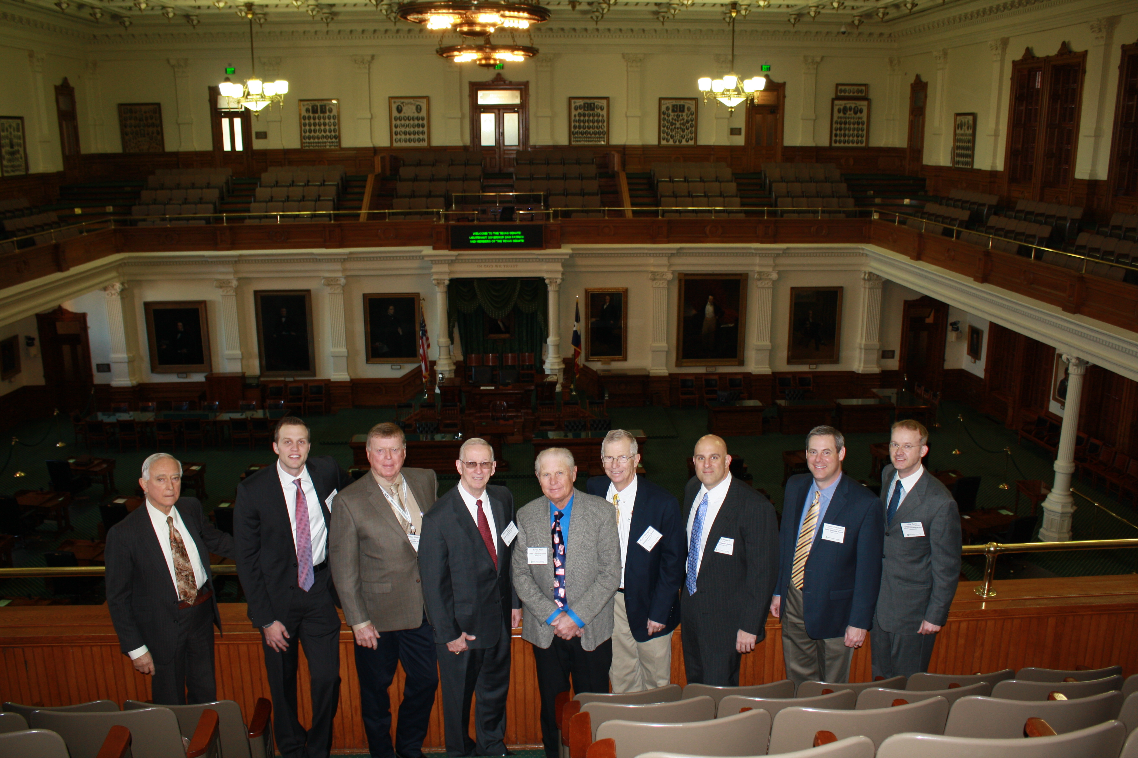 United leadership in Austin at the Capitol building's senate chambers.